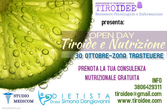 Consulenze gratuite previa prenotazione al 380.6429311 o tiroidee.gmail.com